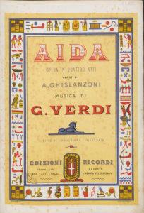 "Vocal Score for Giuseppe Verdi's ""Aïda"""